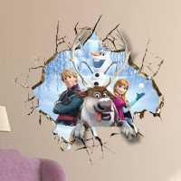 Disney Frozen Muursticker - All in the Family- 60 x 60 cm