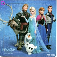 Frozen Puzzel 9 stukjes (hout)