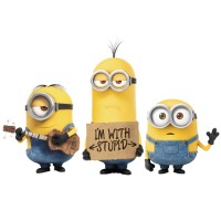 Minions muursticker / Despicable Me / Minions stickers  I'm with stupid