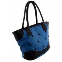 Tasjie Handtas blauw met zwart