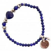 Tasjie Armband blauw kralen