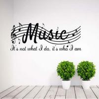 Music it's not what i do, it's who i am sticker