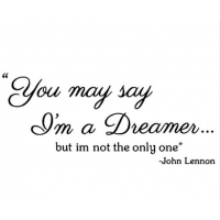 Jonhn Lennon You may say i'm a dreamer sticker