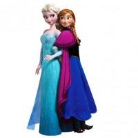 Disney Frozen Muursticker - Anna & Elsa - 70 x 40 cm