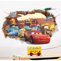 Cars muursticker / Cars sticker trough wall