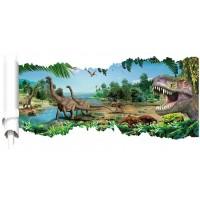 Dinosaurus Muursticker  - 90 x 46 cm