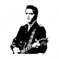Elvis Presley  sticker nr2