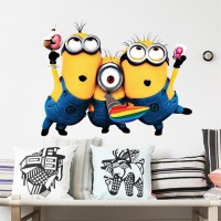 Minions muursticker / Despicable Me / Minions stickers  We are family 45 x 55 cm