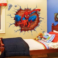 Spiderman Sticker Muursticker  - 50 x 45 cm