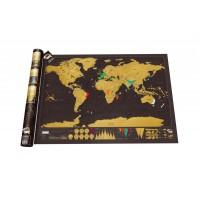 Kras Wereldkaart - Scratch Map Deluxe XL (59,4 x 82,5cm)