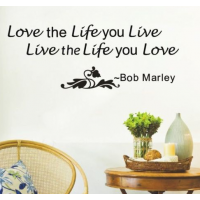 Black Bob Marley Quote Love The Life You Live sticker