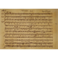 Music manuscript mozart poster