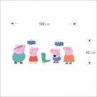 Peppa Pig | Peppa Big Muursticker / Deursticker