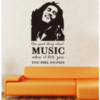 Bob Marley one good thing about music sticker